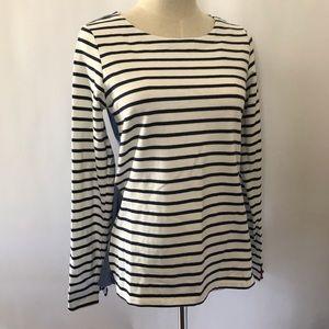 Joules Stripe Long Sleeve Jersey Top, Size 4